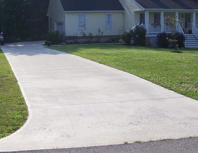 Asphalt or concrete Base for concrete driveway